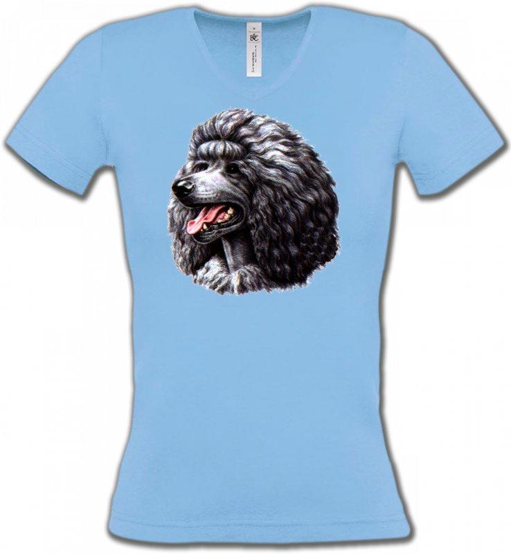 T-Shirts Col V FemmesCanichesCaniche noir (Q)