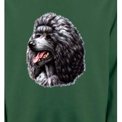 Sweatshirts Races de chiens Caniche noir (Q)