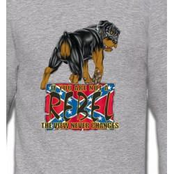 Sweatshirts Races de chiens Rottweiler Rebel  (A)