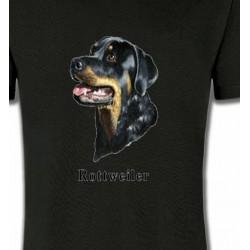 T-Shirts Races de chiens Tête de Rottweiler (G)