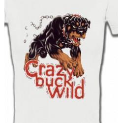T-Shirts Races de chiens Rottweiler sauvage (K)