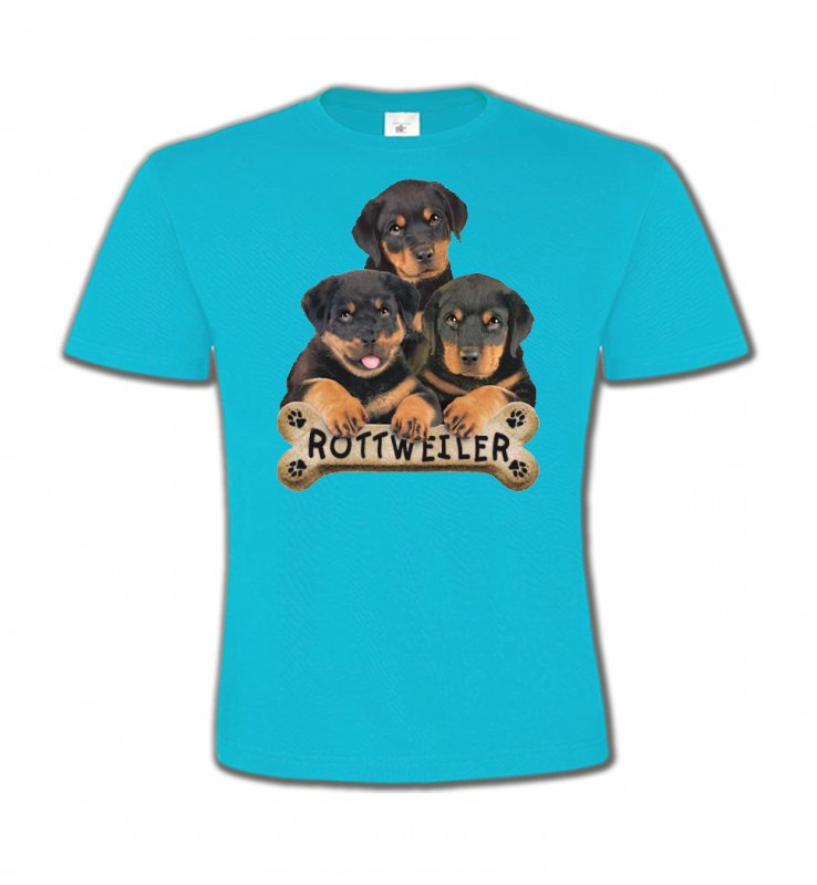 T-Shirts Col Rond EnfantsRottweilerBébés Rottweilers (R)