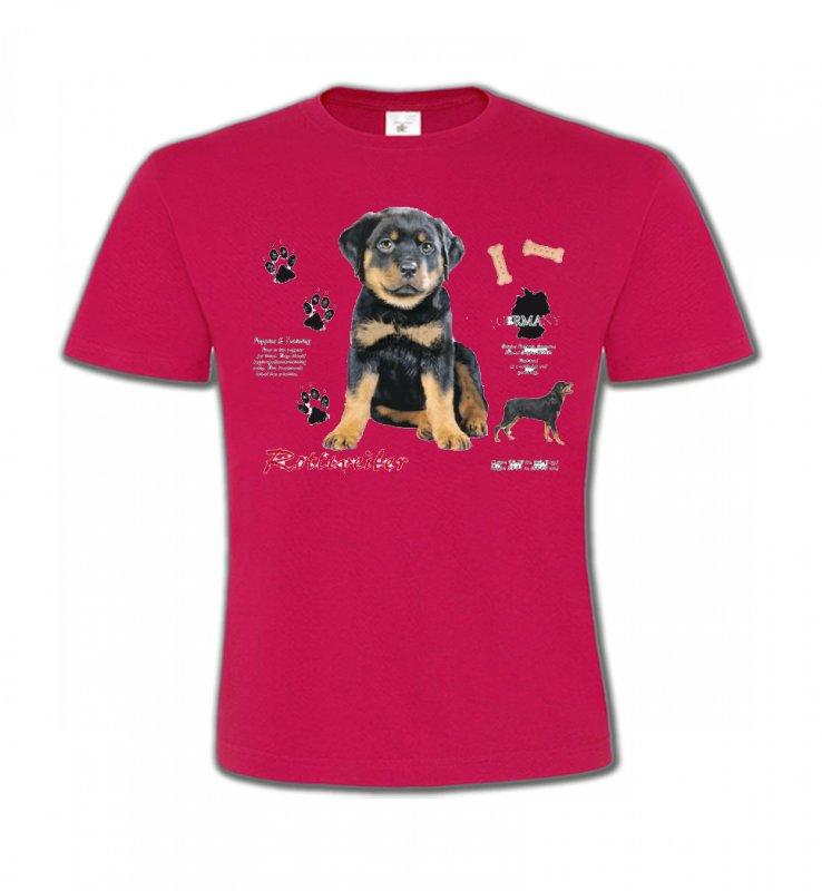 T-Shirts Col Rond EnfantsRottweilerRottweiler Chiot  (Q)