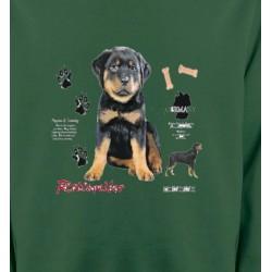Sweatshirts Races de chiens Rottweiler Chiot  (Q)