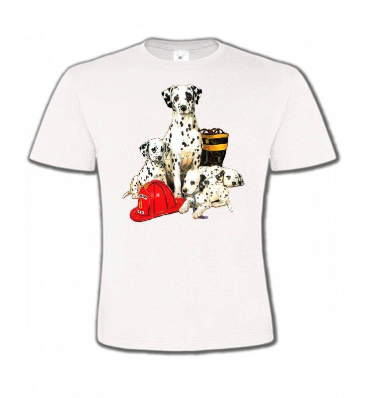 T-Shirts Col Rond EnfantsDalmatiensDalmatien Famille (F)