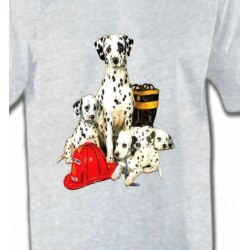 T-Shirts Races de chiens Dalmatien Famille (F)