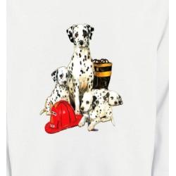 Sweatshirts Races de chiens Dalmatien Famille (F)