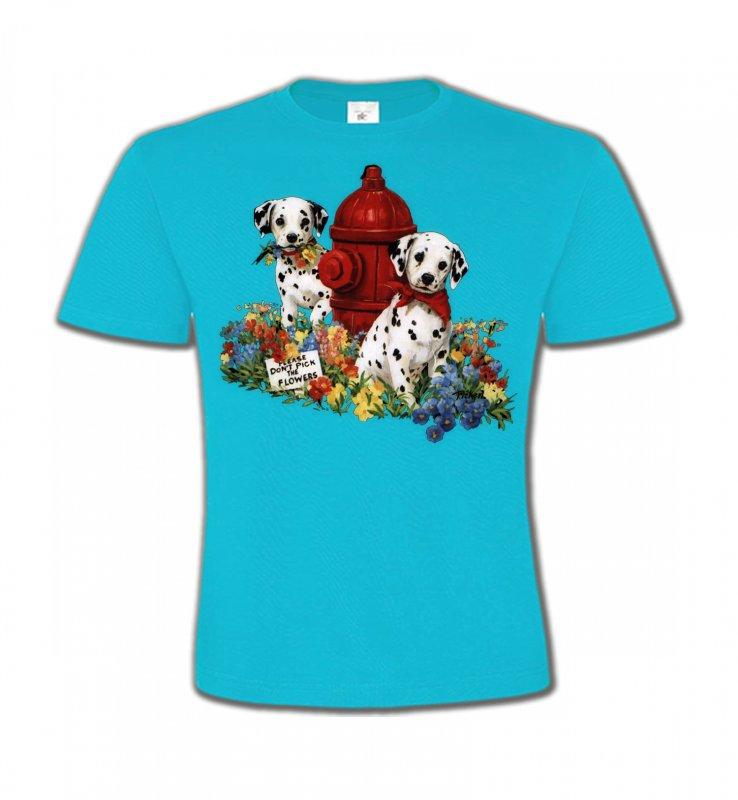 T-Shirts Col Rond EnfantsDalmatiensDalmatiens chiots (A)