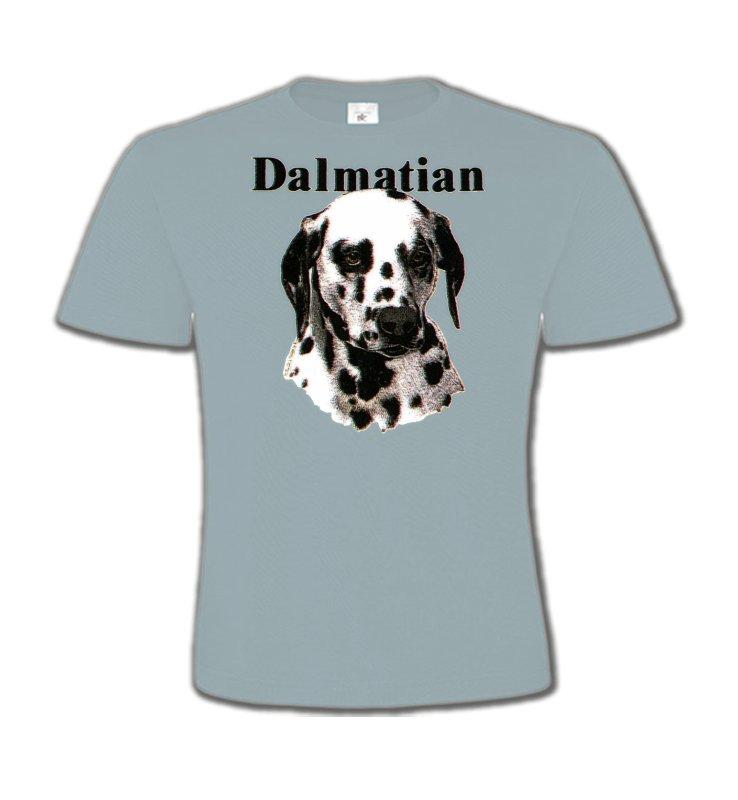 T-Shirts Col Rond EnfantsDalmatiensTête Dalmatien (H)