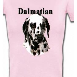 T-Shirts Races de chiens Tête Dalmatien (H)