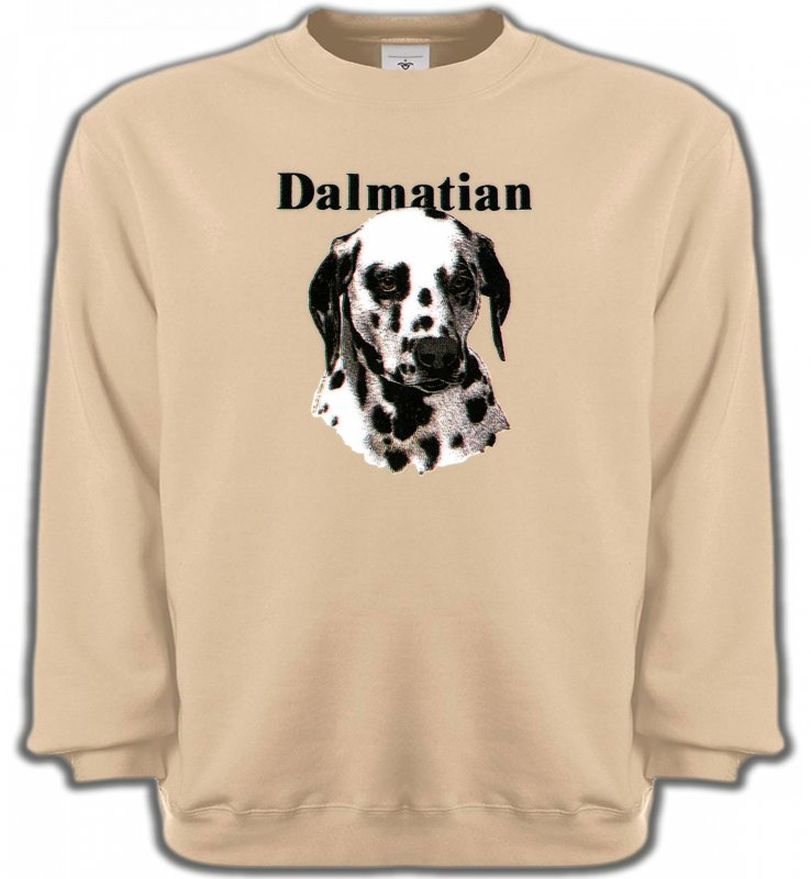 Sweatshirts UnisexeDalmatiensTête Dalmatien (H)