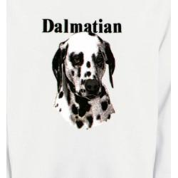 Sweatshirts Races de chiens Tête Dalmatien (H)