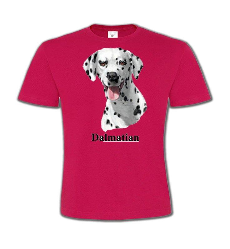 T-Shirts Col Rond EnfantsDalmatiensTête Dalmatien (D)