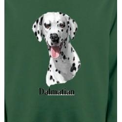 Sweatshirts Races de chiens Tête Dalmatien (D)