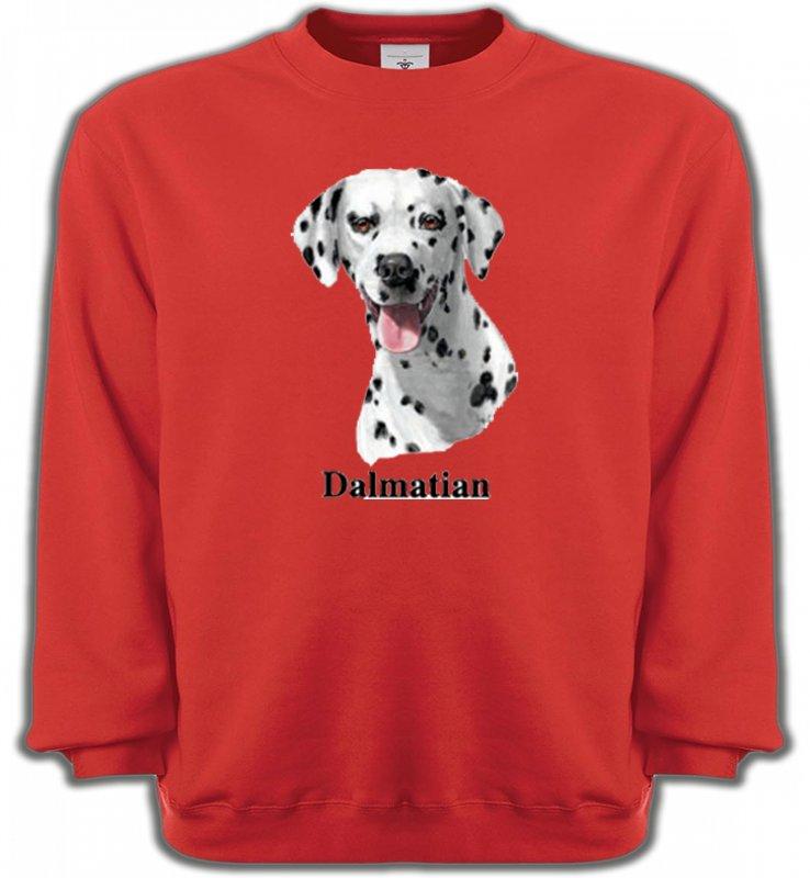 Sweatshirts UnisexeDalmatiensTête Dalmatien (D)