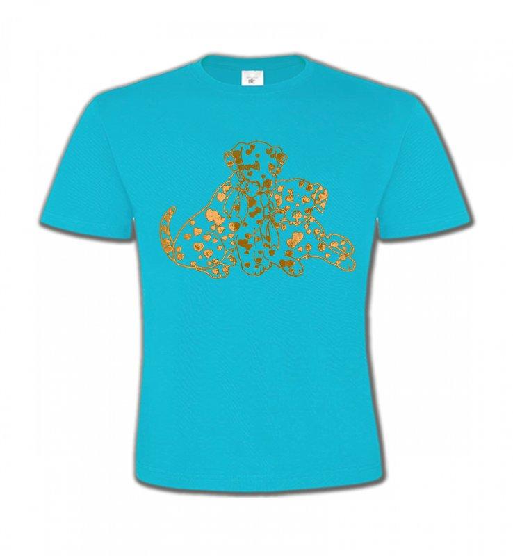 T-Shirts Col Rond EnfantsDalmatiensDalmatien Or (C)
