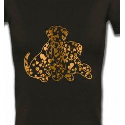 T-Shirts Races de chiens Dalmatien Or (C)