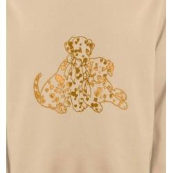 Sweatshirts Races de chiens Dalmatien Or (C)