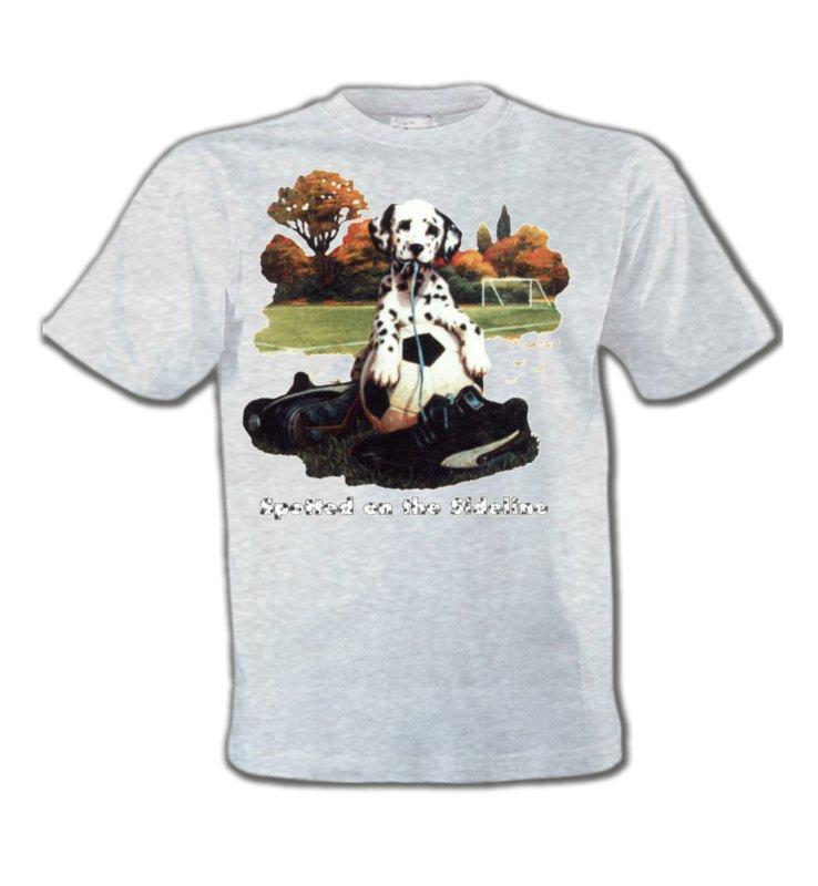 T-Shirts Col Rond EnfantsDalmatiensDalmatien Football(M)