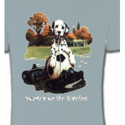 T-Shirts Races de chiens Dalmatien Football(M)