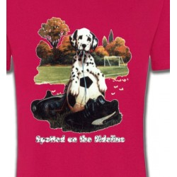 T-Shirts Races de chiens Dalmatien Football(M)