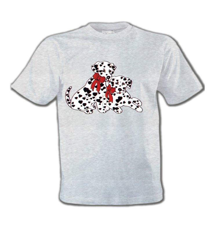 T-Shirts Col Rond EnfantsDalmatiensBébés Dalmatiens (B)