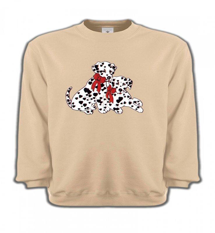 Sweatshirts EnfantsDalmatiensBébés Dalmatiens (B)