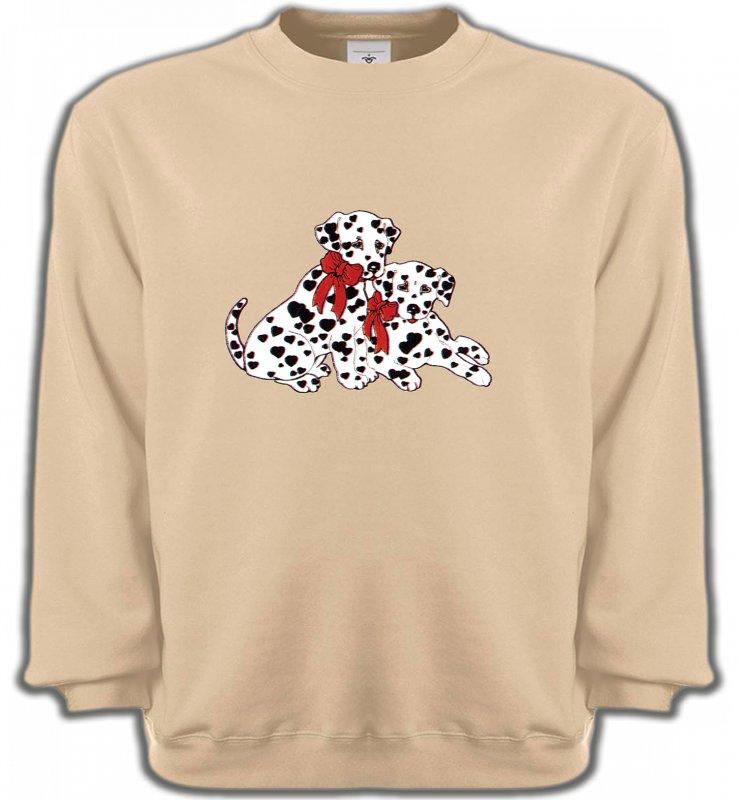 Sweatshirts UnisexeDalmatiensBébés Dalmatiens (B)