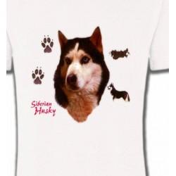 T-Shirts Races de chiens Husky (H)