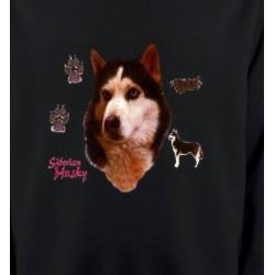 Sweatshirts Races de chiens Husky (H)