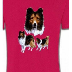 T-Shirts Races de chiens Colley (F)