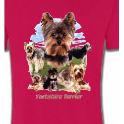 T-Shirts Yorkshires Yorkshire terrier Paysage (B)