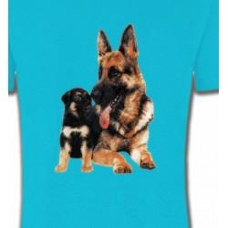 T-Shirts Berger Allemand Berger Allemand et son chiot  (A)
