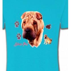 T-Shirts Sharpei Tête de Sharpei (A)
