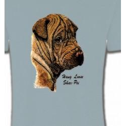 T-Shirts Sharpei Tête de Sharpei (B)