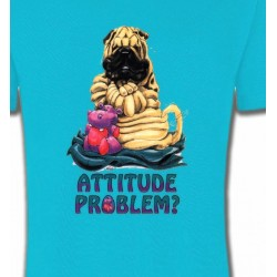 T-Shirts Races de chiens Sharpei Cute  (C)
