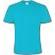 T-Shirt Col Rond Bleu Piscine